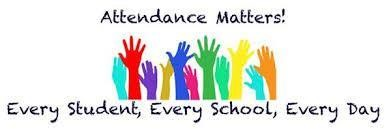 attendance matters graphic with hands of multiple colors