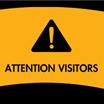 attention visitors caution (clipart)
