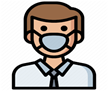 guy wearing mask (clipart)