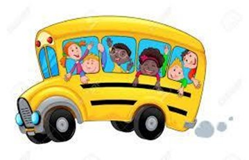 kids on the school bus (clipart)