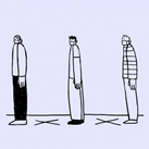 people standing 6 feet apart (clipart)