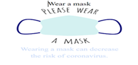 please wear a mask graphic