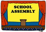 school auditorium stage (clipart)