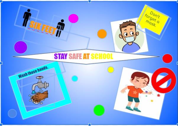 stay safe at school graphic
