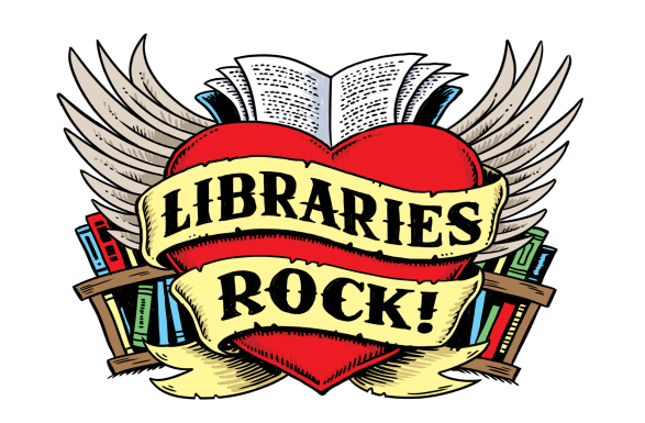libraries rock heart image