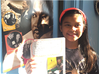 Natalie Godinez in Mrs. Nelson's class remembered Dr. King by assisting in her father's office. thumbnail72714