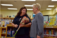 Photo of Principal Erin Malone with new retiree thumbnail89813