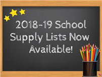 2018-2019 School Supply Lists Available Photo